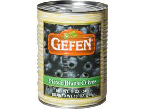 Black Pitted Olives in Tins
