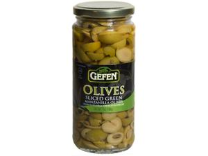 Sliced Olives in Jar
